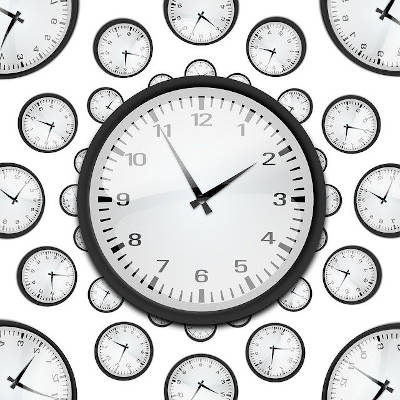Clocks... indicating fast service and instant cover for your work
