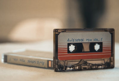 Cassette tape of multiple songs