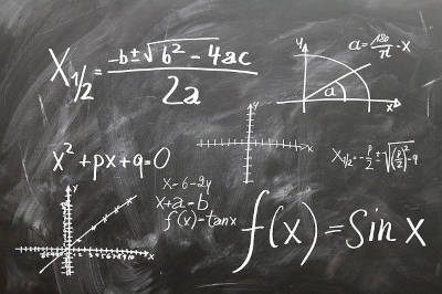 Formulae on a blackboard